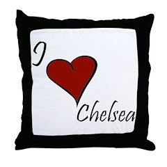 I love Chelsea Throw Pillow