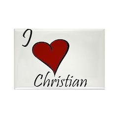 I love Christian Rectangle Magnet