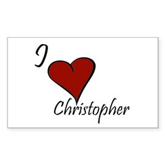 I love Christopher Decal