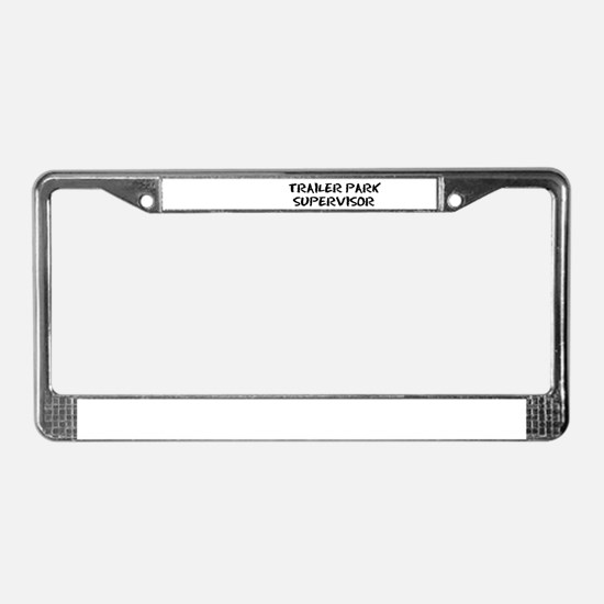 Cute Trailer trash License Plate Frame