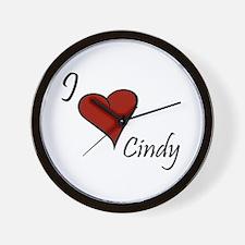 I love Cindy Wall Clock
