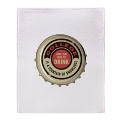 College Fountain Throw Blanket