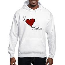 I love Clayton Hoodie