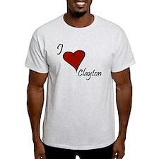 I love Clayton T-Shirt