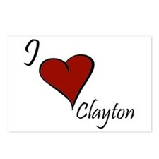 I love Clayton Postcards (Package of 8)