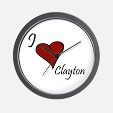 I love Clayton Wall Clock