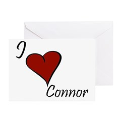 I love Connor Greeting Cards (Pk of 10)