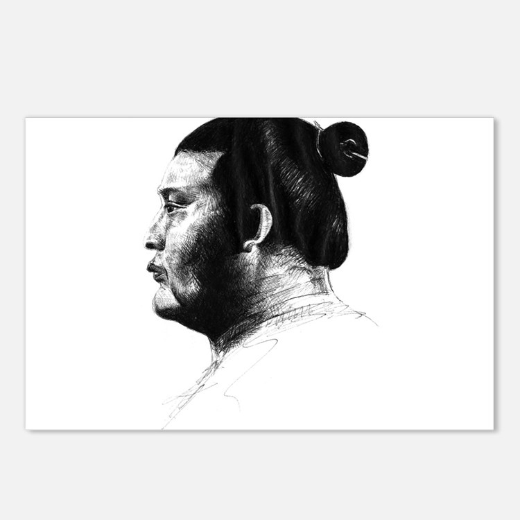 Sumo Wrestler Postcards (Package of 8)
