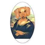 Mona Dachshund Oval Sticker