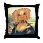 Mona Dachshund Throw Pillow