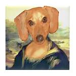 Mona Dachshund Tile Coaster