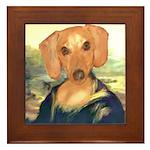 Mona Dachshund Framed Tile