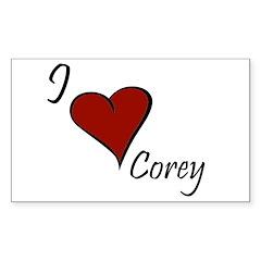I love Corey Decal