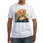 Mona Dachshund Fitted T-Shirt