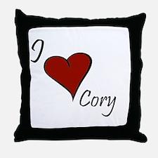 I love Cory Throw Pillow