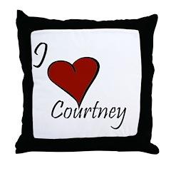 I love Courtney Throw Pillow