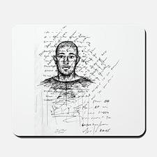 Artist Self-Portrait with Tex Mousepad