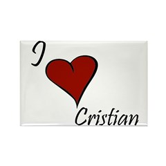 I love Cristian Rectangle Magnet