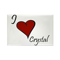 I love Crystal Rectangle Magnet (100 pack)