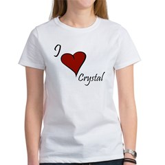 I love Crystal Women's T-Shirt