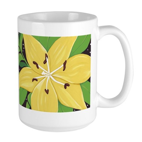 A Yellow Lilly Two Large Mug