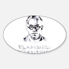 Vladimir Jabotinski Oval Decal