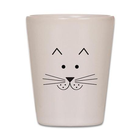 Cartoon Cat Face Shot Glass