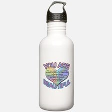 You Are Beautiful Water Bottle