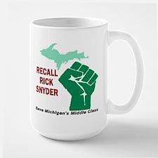 Recall Rick Snyder Sign Large Mug