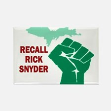 Recall Rick Snyder Sign Rectangle Magnet
