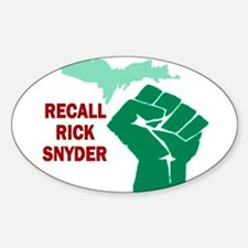 Recall Rick Snyder Sign Sticker (Oval)