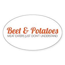 Beet & Potatoes Sticker (Oval)