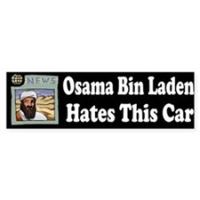 Osama Bin Laden Hates This Car Bumper Bumper Sticker