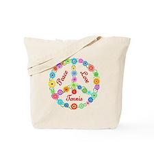 Tennis Peace Sign Tote Bag