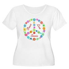 Tennis Peace Sign T-Shirt