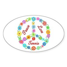 Tennis Peace Sign Decal