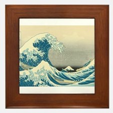 Hokusai Great Wave Framed Tile