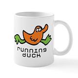 Running duck Coffee Mugs