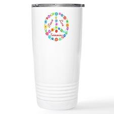 Swimming Peace Sign Travel Coffee Mug