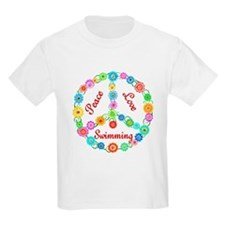 Swimming Peace Sign T-Shirt
