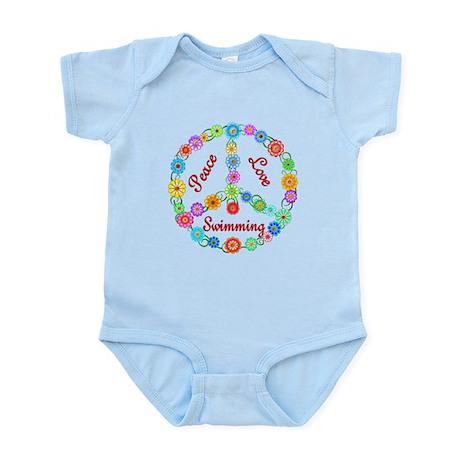 Swimming Peace Sign Infant Bodysuit