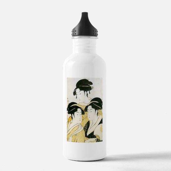 Utamaro Three Women Water Bottle