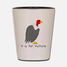 V is for Vulture Shot Glass