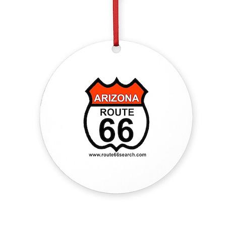 Arizona Route 66 Ornament (Round)