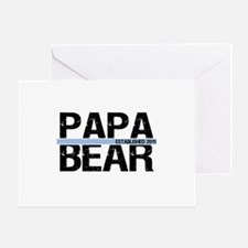 Papa Bear 2011 Banner Greeting Card