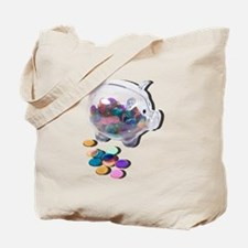 Piggy Bank Colorful Chips Tote Bag