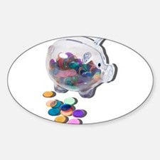 Piggy Bank Colorful Chips Decal