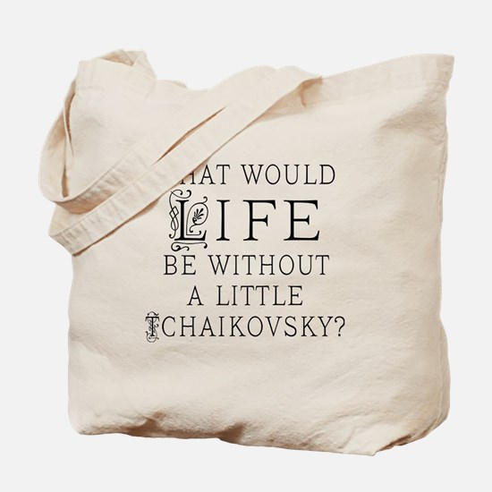 Tchaikovsky Music Quote Tote Bag