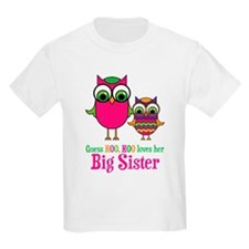 Guess Hoo Loves Big Sister T-Shirt