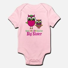 Guess Hoo Loves Big Sister Infant Bodysuit